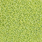 Miyuki round rocaille 11 (2mm) pistache irisée-les 30 g
