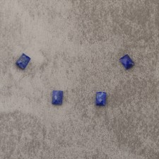 """Lapis d'Afghanistan """"AA"""" 6x8mm rect 2.25x4=9€"""