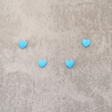 """Turquoise """"coeur"""" 8mm 2.25€x4=9€"""