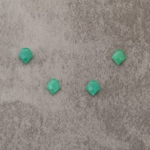 "Calcédoine verte ""AA""    talisman 8x11m 2.9x4=11.6€"