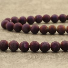 """Agate druzy 8mm mat """"electric purple"""""""