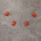 Cornaline rect 8x10mm 3.9€x4=15.6€