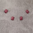 Rubis d'Inde rect 8x10mm 6.2€x4=24.8€