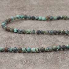 Turquoise Africaine mat 4mm