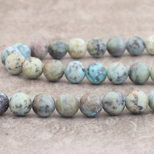 Turquoise Africaine mat 10mm