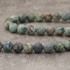 Turquoise Africaine mat 12mm
