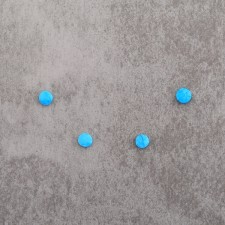 Turquoise renf pastille 6mm 1.7€x4=6.8€