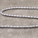 Hématite silver olive 4x6mm