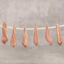 Crystal brut copper 10x30-40mm