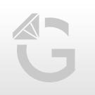Hématite cross 8x10mm white silver