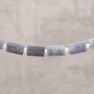 Labradorite d'Afrique tube baroque 15x10mm