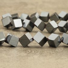 Hématite cube diagonal 8mm