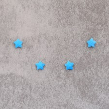 """Turquoise """"star"""" 8mm 2.25€x4=9€"""