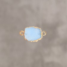 Druzy slice nude blue pl.or 1 m 12X14mm 2 anx