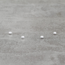 Boule diamantée 4mm pl.argt 5 mic  10x0.39€=3.90€