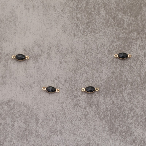Ovale époxy 4x6mm black pl.or 0.5 mic 0.5€x10=5€