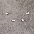 Tréfle époxy 6mm white pl.or 0.5 mic 0.5€x10=5€