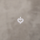 Coeur strass 6.5mm pl.argt 5 mic