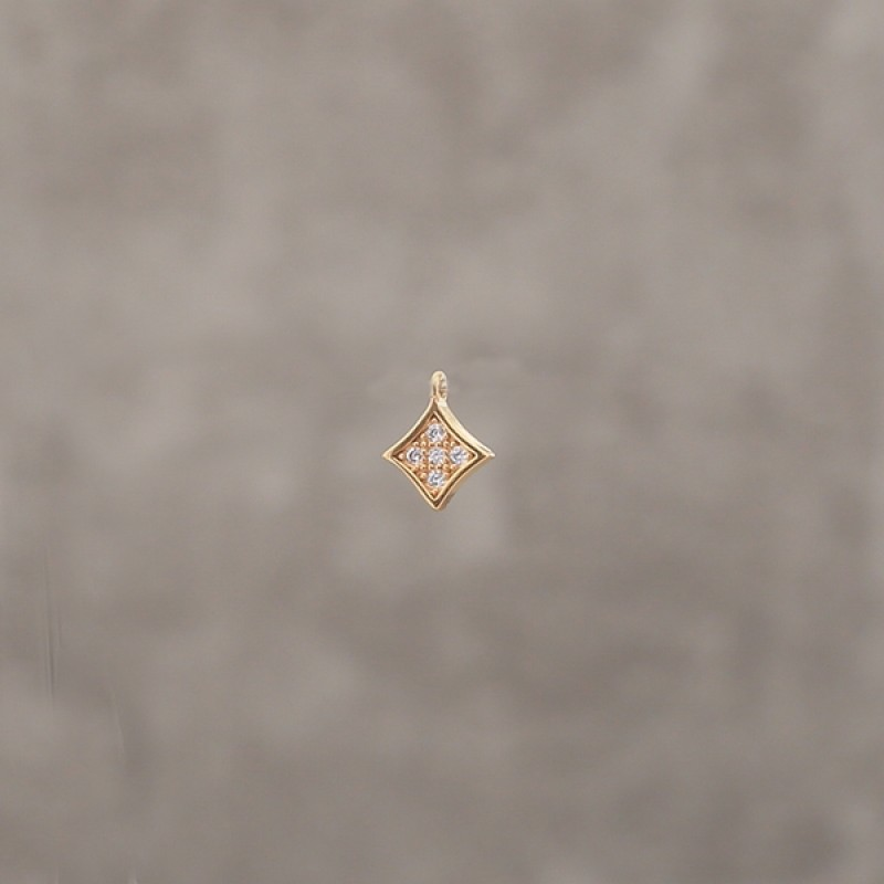 Square strass 4.5mm pl.or 0.5 mic