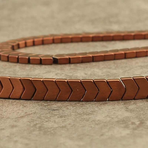 "Hématite ""arrow"" copper 6mm"