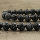 Obsidienne neige du Méxique 14mm