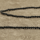 Onyx noir d'Afrique du Sud facetté 2mm