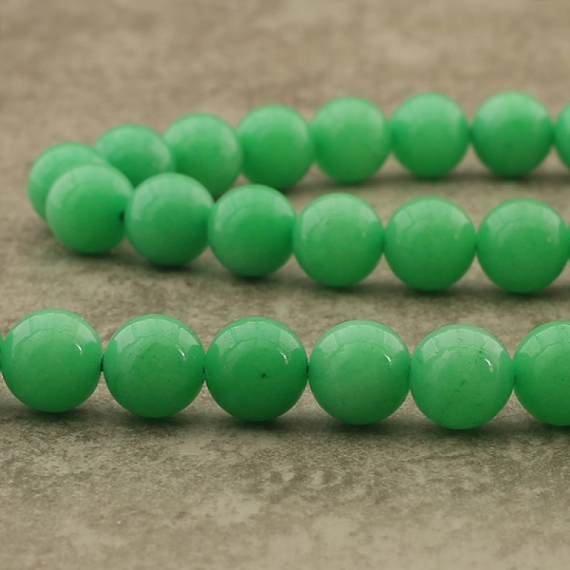 "Jade ""chrysoprase"" 10mm"